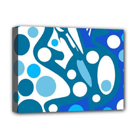 Blue and white decor Deluxe Canvas 16  x 12