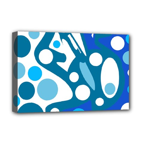 Blue and white decor Deluxe Canvas 18  x 12