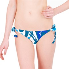 Blue and white decor Bikini Bottom
