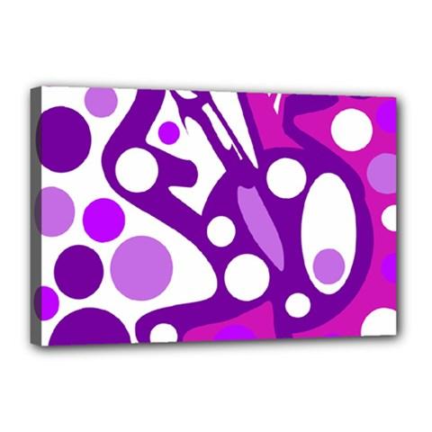 Purple and white decor Canvas 18  x 12