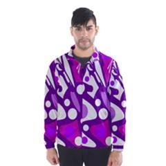 Purple and white decor Wind Breaker (Men)