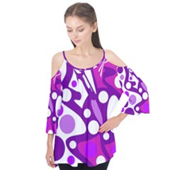 Purple And White Decor Flutter Tees