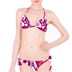 Magenta and white decor Bikini Set
