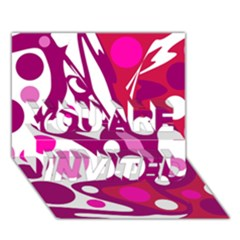 Magenta and white decor YOU ARE INVITED 3D Greeting Card (7x5)