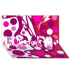 Magenta and white decor ENGAGED 3D Greeting Card (8x4)