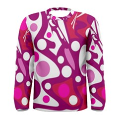 Magenta And White Decor Men s Long Sleeve Tee