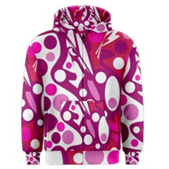 Magenta and white decor Men s Zipper Hoodie