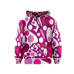 Magenta and white decor Kids  Zipper Hoodie