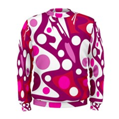 Magenta and white decor Men s Sweatshirt