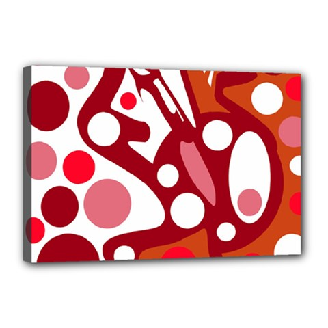Red and white decor Canvas 18  x 12