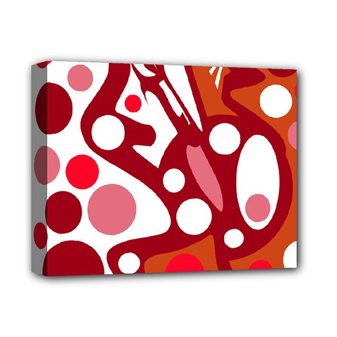 Red and white decor Deluxe Canvas 14  x 11
