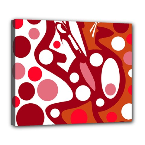 Red and white decor Deluxe Canvas 24  x 20