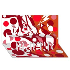 Red and white decor Best Friends 3D Greeting Card (8x4)