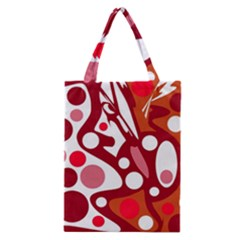 Red and white decor Classic Tote Bag