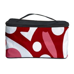 Red and white decor Cosmetic Storage Case