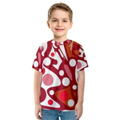 Red and white decor Kid s Sport Mesh Tee