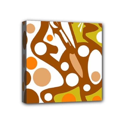 Orange and white decor Mini Canvas 4  x 4