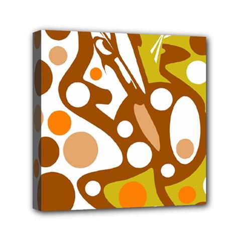 Orange and white decor Mini Canvas 6  x 6