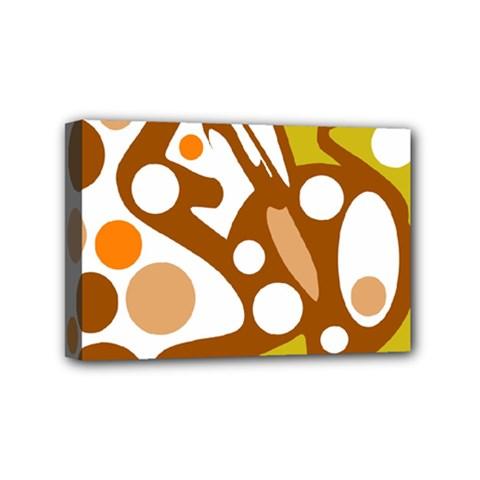 Orange and white decor Mini Canvas 6  x 4