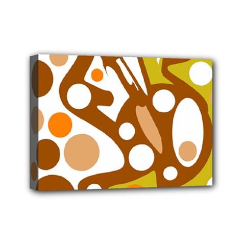 Orange and white decor Mini Canvas 7  x 5