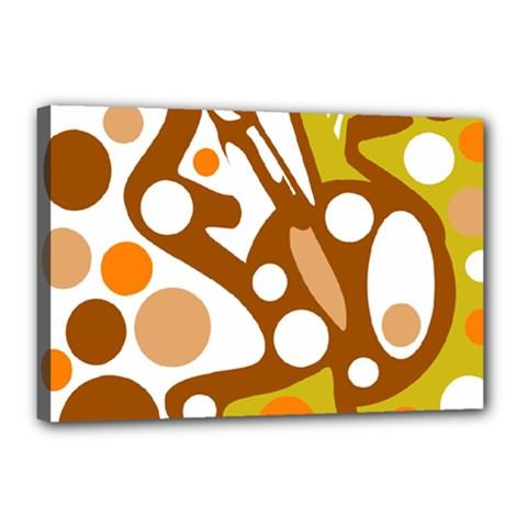 Orange and white decor Canvas 18  x 12