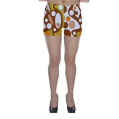 Orange and white decor Skinny Shorts
