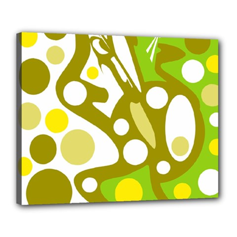Green and yellow decor Canvas 20  x 16