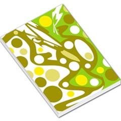 Green and yellow decor Large Memo Pads