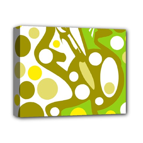 Green and yellow decor Deluxe Canvas 14  x 11