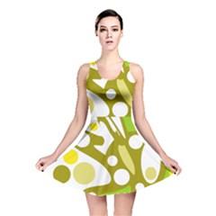 Green and yellow decor Reversible Skater Dress