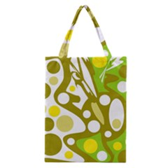 Green and yellow decor Classic Tote Bag