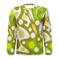 Green and yellow decor Men s Long Sleeve Tee