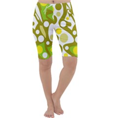 Green and yellow decor Cropped Leggings