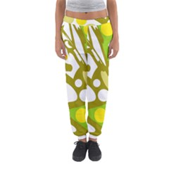 Green And Yellow Decor Women s Jogger Sweatpants