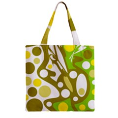 Green and yellow decor Zipper Grocery Tote Bag