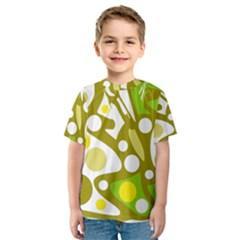 Green and yellow decor Kid s Sport Mesh Tee