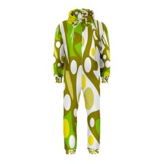 Green and yellow decor Hooded Jumpsuit (Kids)