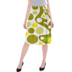 Green and yellow decor Midi Beach Skirt