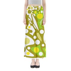 Green and yellow decor Maxi Skirts