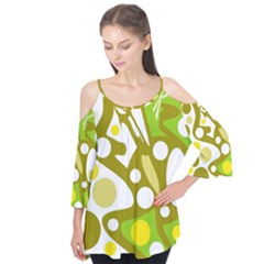 Green and yellow decor Flutter Tees