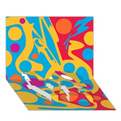 Colorful decor LOVE Bottom 3D Greeting Card (7x5)