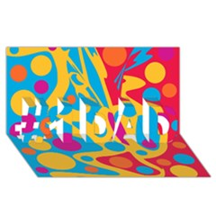 Colorful decor #1 DAD 3D Greeting Card (8x4)