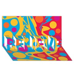 Colorful decor BELIEVE 3D Greeting Card (8x4)
