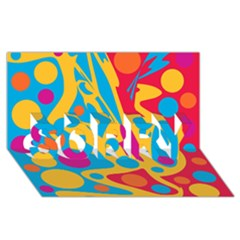 Colorful decor SORRY 3D Greeting Card (8x4)