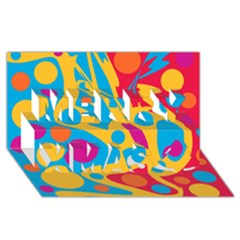 Colorful decor Merry Xmas 3D Greeting Card (8x4)
