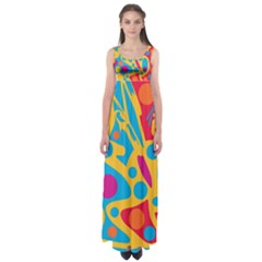 Colorful decor Empire Waist Maxi Dress