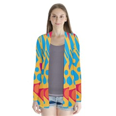 Colorful decor Drape Collar Cardigan