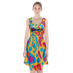 Colorful decor Racerback Midi Dress