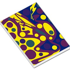 Deep blue and yellow decor Large Memo Pads