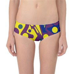 Deep blue and yellow decor Classic Bikini Bottoms